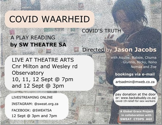 The play reading of COVID WAARHEID / COVID'S TRUTH available online